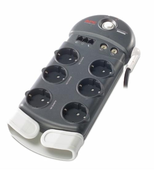 Imagem de SurgeArrest Home/Office da APC 6 saídas com Proteção de Telefone & Coaxial 230V